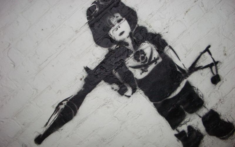 stereotypical image of a child soldier